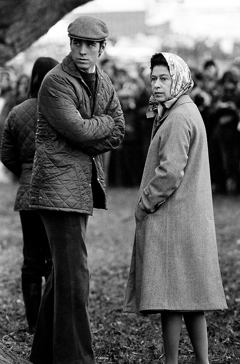 THE QUEEN WITH PRINCE ANDREW SEEN AT THE BADMINTON HORSE TRIALS.PHOTO JAYNE FINCHER