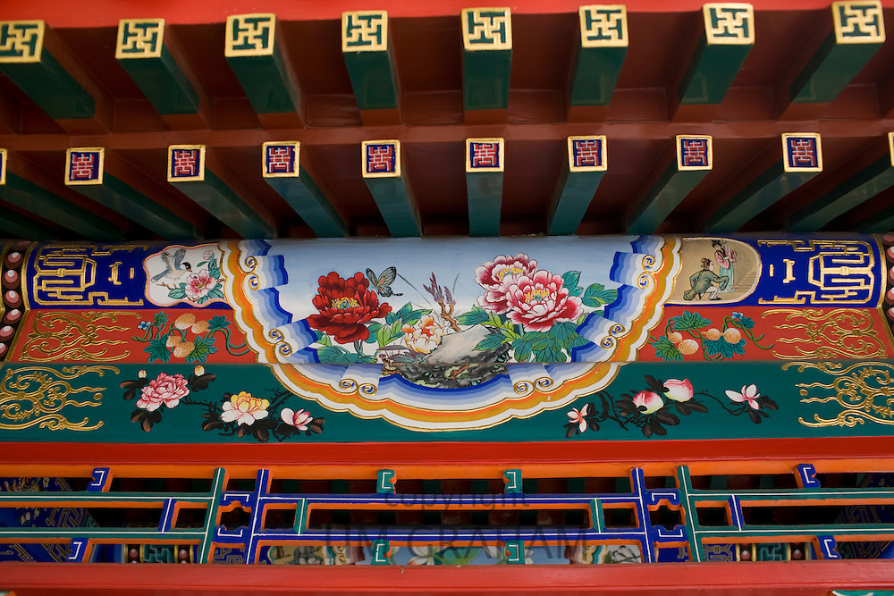 Newly restored paintings at The Summer Palace, Beijing, China