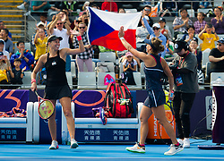 October 5, 2018 - Andrea Sestini Hlavackova & Barbora Strycova of the Czech Republic in action during a doubles match at the 2018 China Open WTA Premier Mandatory tennis tournament (Credit Image: © AFP7 via ZUMA Wire)