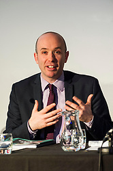 Pictured:  Marco Biagi (SNP)<br /> <br /> Candidates from the five main parties faced questions at the Building Scotland's Future election hustings today. The panalists, Kath Gordon (Lib Dem), Marco Biagi (SNP), Monica Lennon (Labour), Ian McGill (Conservatives) and Maggie Chapman (Co-convenor of the Scottish Greens) were quizzed on issued affecting infrastructure and the build environment.  <br /> <br /> Ger Harley   EEm 19 April 2016