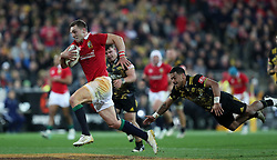 British and Irish Lions' George North breaks through to score his side's second try during the tour match at the Westpac Stadium, Wellington. PRESS ASSOCIATION Photo. Picture date: Tuesday June 27, 2017. See PA story RUGBYU Lions. Photo credit should read: David Davies/PA Wire. RESTRICTIONS: Editorial use only. No commercial use or obscuring of sponsor logos.