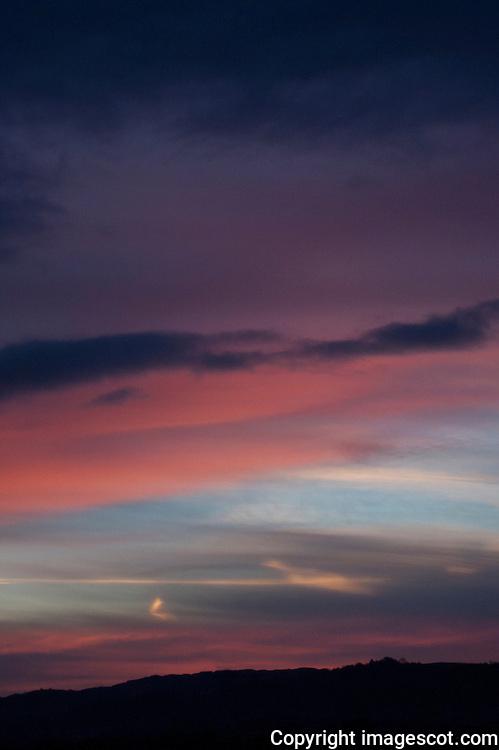 Sunrise sky, winter