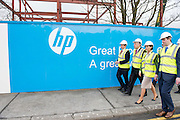 03/02/2014 HP Ireland announced the formal commencement of the construction phase of its new 89,000 sq. ft. office building in Ballybrit, Galway, at a ceremony attended by An Taoiseach, Enda Kenny, TD.  The project is expected to be one of the largest construction projects in Galway in recent times, and is likely to create up to 200 construction jobs.  Pictured at the event were:   An Taoiseach Enda Kenny TD, Mayor of Galway Cllr Padraig Connelly and Senator Hildegarde Naughton and Sean Kyne TD . Photo:Andrew Downes.