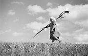Farmhand with Rake, Molln, Austria, 1935