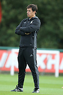 Chris Coleman, the Wales coach looks on during the Wales football team training at the Vale Resort, Hensol , South Wales on Monday 2nd October 2017, the team are preparing for their FIFA World Cup qualifier away to Georgia this week. pic by Andrew Orchard, Andrew Orchard sports photography