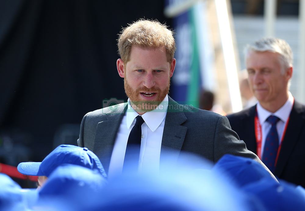 The Duke of Sussex before the ICC Cricket World Cup group stage match at The Oval, London.