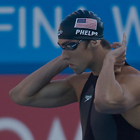 Michael Phelps (USA) competes in 100 Men's Butterfly swimming competition during the 13th FINA Swimming World Championships held in Rome, Italy. Friday, 31. July 2009. ATTILA VOLGYI