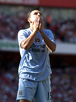 Photo: Olly Greenwood.<br />Arsenal v Manchester City. The FA Barclays Premiership. 25/08/2007. Martin Petrov can't beleive his shots missed