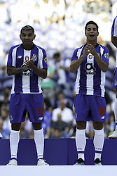 July 28, 2018 - Porto, Porto, Portugal - Porto's Mexican forward Jesus Corona (L) and Porto's Spanish midfielder Oliver Torres (R) during the Official Presentation of the FC Porto Team 2018/19 match between FC Porto and Newcastle, at Dragao Stadium in Porto on July 28, 2018. (Credit Image: © Dpi/NurPhoto via ZUMA Press)