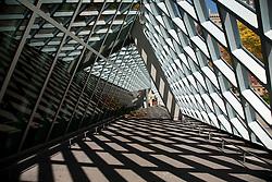 North America, United States, Washington, Seattle, atrium and shadows at Seattle Public Library
