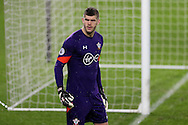 Fraser Forster, the Southampton goalkeeper looks on. Premier league match, Swansea city v Southampton at the Liberty Stadium in Swansea, South Wales on Tuesday 31st January 2017.<br /> pic by  Andrew Orchard, Andrew Orchard sports photography.