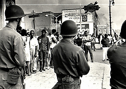 July 30, 1967 - Michigan, U.S. - Riot Detroit 1967 Troops on Linwood Ave. (Credit Image: © Detroit Free Press via ZUMA Wire)