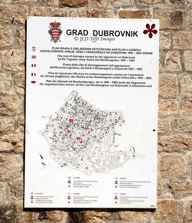 Restoration of the city with UNESCO support emphasizes memory of the young men who defended Dubrovnik and the damage the city suffered.