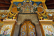 Temple door, Kandy.