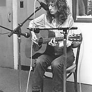 Singer-songwriter. Patty Larkin at WERS studios, Emerson College, Boston