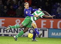 Fotball<br /> England 2004/2005<br /> Foto: SBI/Digitalsport<br /> NORWAY ONLY<br /> <br /> Coca Cola Championship<br /> 03/01/2005<br /> <br /> Leicester City v Queens Park Rangers<br /> <br /> James Scowcroft and Daniel Shittu