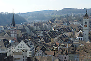 Old city of Schaffhausen, view from the Munot