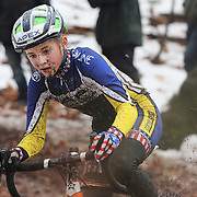 NEW HAVEN, CONNECTICUT- DECEMBER 18:  Lizzy Gunsalus of AP Junior Development p/b Corner Cycle, in action during the Women's Open competition during the Elm City CX, CT Series Cyclocross Competition on December 18th, 2016 at the Edgewood Park, New Haven, Connecticut (Photo by Tim Clayton/Corbis via Getty Images)