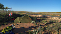 Tenting by Flat road, highway 1