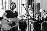 Italian singer-songwriter Fabrizio Cammarata at St George's Church as part of Haldern Pop Festival