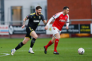 Wimbledon midfielder Anthony Wordsworth (40) in action  during the The FA Cup 3rd round match between Fleetwood Town and AFC Wimbledon at the Highbury Stadium, Fleetwood, England on 5 January 2019.