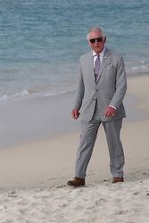 The Prince of Wales walks along Grand Anse beach during a one day visit to the Caribbean island of Grenada.