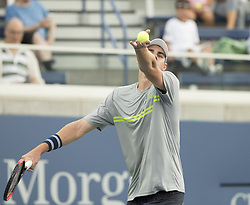 August 22, 2017 - New York, New York, United States - Reilly Opelka of USA serves during qualifying game against Alexander Sarkissian of USA at US Open 2017 (Credit Image: © Lev Radin/Pacific Press via ZUMA Wire)