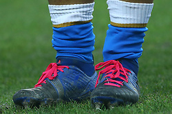 November 25, 2017 - Padova, Italy - Italy players wearing rose shoelaces supporting the International Day for the Elimination of Violence against Women at Plebiscito Stadium in Padova, Italy on November 25, 2017, during the Rugby test match between Italy v South Africa. (Credit Image: © Matteo Ciambelli/NurPhoto via ZUMA Press)