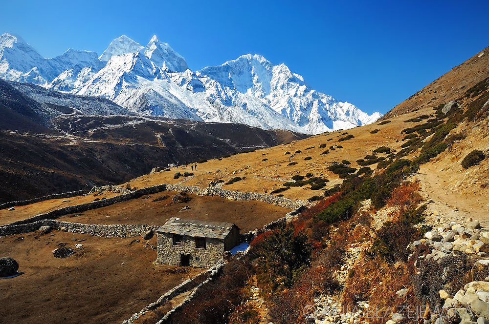 Nepal, Himalayas. Mountain house in the Everest region.