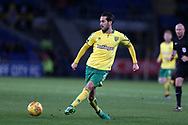 Mario Vrancic of Norwich city in action.EFL Skybet championship match, Cardiff city v Norwich city at the Cardiff city stadium in Cardiff, South Wales on Friday 1st December 2017.<br /> pic by Andrew Orchard, Andrew Orchard sports photography.