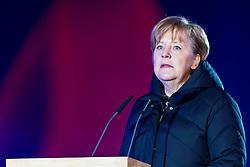 07-02-2011 SKIEN: FIS ALPINE WORLD CHAMPIONSSHIP: GARMISCH PARTENKIRCHEN<br /> Chancellor Angela Merkel during official Official opening ceremony Fis Alpine Ski World Championships<br /> **NETHERLANDS ONLY**<br /> ©2011-WWW.FOTOHOOGENDOORN.NL/NPH- J. Groder