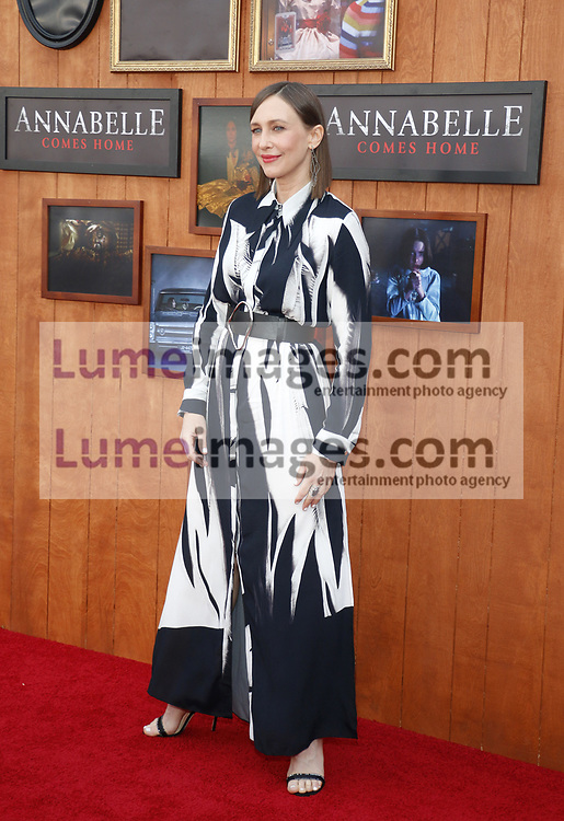 Vera Farmiga at the Los Angeles premiere of 'Annabelle Comes Home' held at the Regency Village Theatre in Westwood, USA on June 20, 2019.
