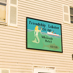 The Friendship Lobster Co-op in Friendship, Maine.