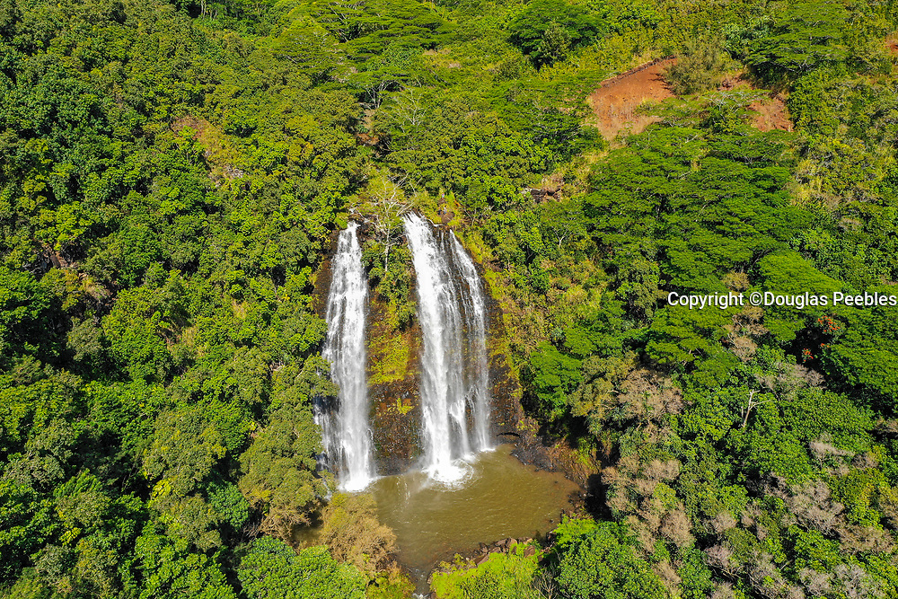 Opaekaa Falls, Wailua, Kauai, Hawaii, waterfall
