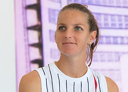 October 2, 2018 - Karolina Pliskova of the Czech Republic visits a sponsor booth at the 2018 China Open WTA Premier Mandatory tennis tournament (Credit Image: © AFP7 via ZUMA Wire)