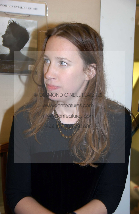 LADY FRANCES ARMSTRONG-JONES at an exhibition of photographs by Lord Snowdon held at the Chris Beetles Gallery, Ryder Street, London on 18th September 2006.<br />