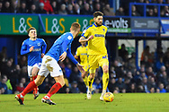 Anthony Wordsworth (40) of AFC Wimbledon on the attack during the EFL Sky Bet League 1 match between Portsmouth and AFC Wimbledon at Fratton Park, Portsmouth, England on 1 January 2019.