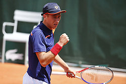 May 27, 2019 - Paris, France - PARIS, FRANCE - MAY 27 : Yannick Maden (Get) v Kimmer Coppejans (Bel) during the first round of the French Open of Roland-Garros , on May 27, 2019 in Paris, France. (Credit Image: © Panoramic via ZUMA Press)