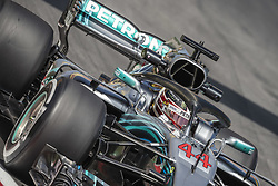 May 11, 2018 - Barcelona, Catalonia, Spain - LEWIS HAMILTON (GBR) drives during the first practice session of the Spanish GP at Circuit de Catalunya in his Mercedes W09 EQ Power  (Credit Image: © Matthias Oesterle via ZUMA Wire)