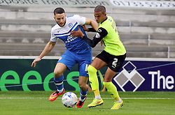 Peterborough United's Conor Washington in action with Oldham Athletic's Connor Brown - Photo mandatory by-line: Joe Dent/JMP - Mobile: 07966 386802 - 04/10/2014 - SPORT - Football - Peterborough - London Road Stadium - Peterborough United v Oldham Athletic - Sky Bet League One