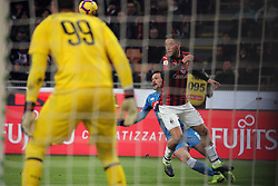 January 26, 2019 - Milan, Milan, Italy - Mario Rui #6 of SSC Napoli competes for the ball with Davide Calabria #2 of AC Milan during the serie A match between AC Milan and SSC Napoli at Stadio Giuseppe Meazza on January 26, 2018 in Milan, Italy. (Credit Image: © Giuseppe Cottini/NurPhoto via ZUMA Press)