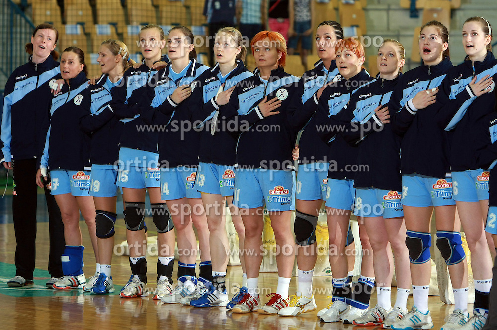 Sloveniaan women team before handball game between women national teams of Slovenia and Belorussia, second qualification game for the European Chamionship 2009, on June 7, 2008, in Arena Zlatorog, Celje, Slovenija. Win of Belorussia, who qualified for EC 2009 in Macedonia. (Photo by Vid Ponikvar / Sportal Images)