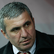 Galatasaray's coach Gheorghe HAGI during their Friendly soccer match Galatasaray between Ajax at the Turk Telekom Arena at Arslantepe in Istanbul Turkey on Saturday 15 January 2011. Turkish soccer team Galatasaray new stadium Turk Telekom Arena opening ceremony. Photo by TURKPIX