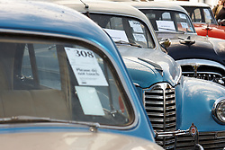 © Licensed to London News Pictures.  03/03/2012. OXFORD, UK. A number of vintage Packard cars built by the us company in the 1940s form part of a classic car auction sale being held at Bonhams Oxford today. Each car is estimated to sell for £10,000-12,000. Photo credit :  Cliff Hide/LNP