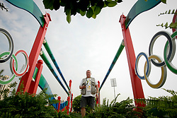 Caremans Dirk checking the remote control camera <br /> Olympic Games Hong Kong 2008<br /> Photo © Dirk Caremans - Hippo Foto