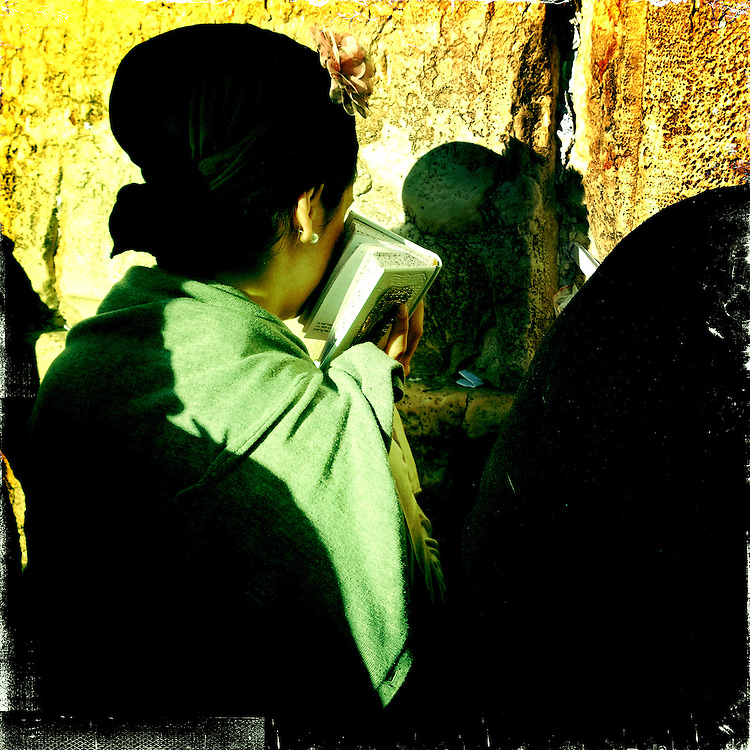 Jerusalem, Israel. April 16th 2011.A woman prays at the Western Wall
