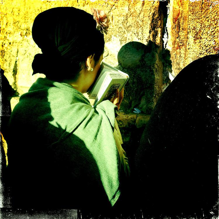 Jerusalem, Israel. April 16th 2011.A woman prays at the Western Wall