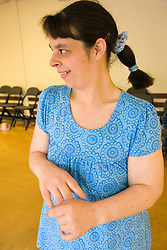 Portrait of a Day Service user with learning disability,