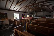 Church in Mexico Beach, Florida damage by Hurricane Michael.
