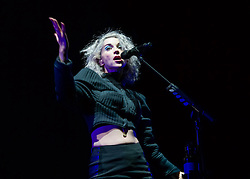 "© Licensed to London News Pictures. 29/05/2014. Barcelona, Spain.   St Vincent performing live at .   In this picture - Anne Erin ""Annie"" Clark better.  Anne, known by her stage name St. Vincent, is an American musician, singer-songwriter, and multi-instrumentalist. She began her music career as a member of The Polyphonic Spree and was also part of Sufjan Stevens' touring band before forming her own band in 2006.   Primavera Sound, or simply Primavera, is an annual music festival that takes place in Barcelona, Spain in late May/June within the Parc del Fòrum leisure site. Photo credit : Richard Isaac/LNP"